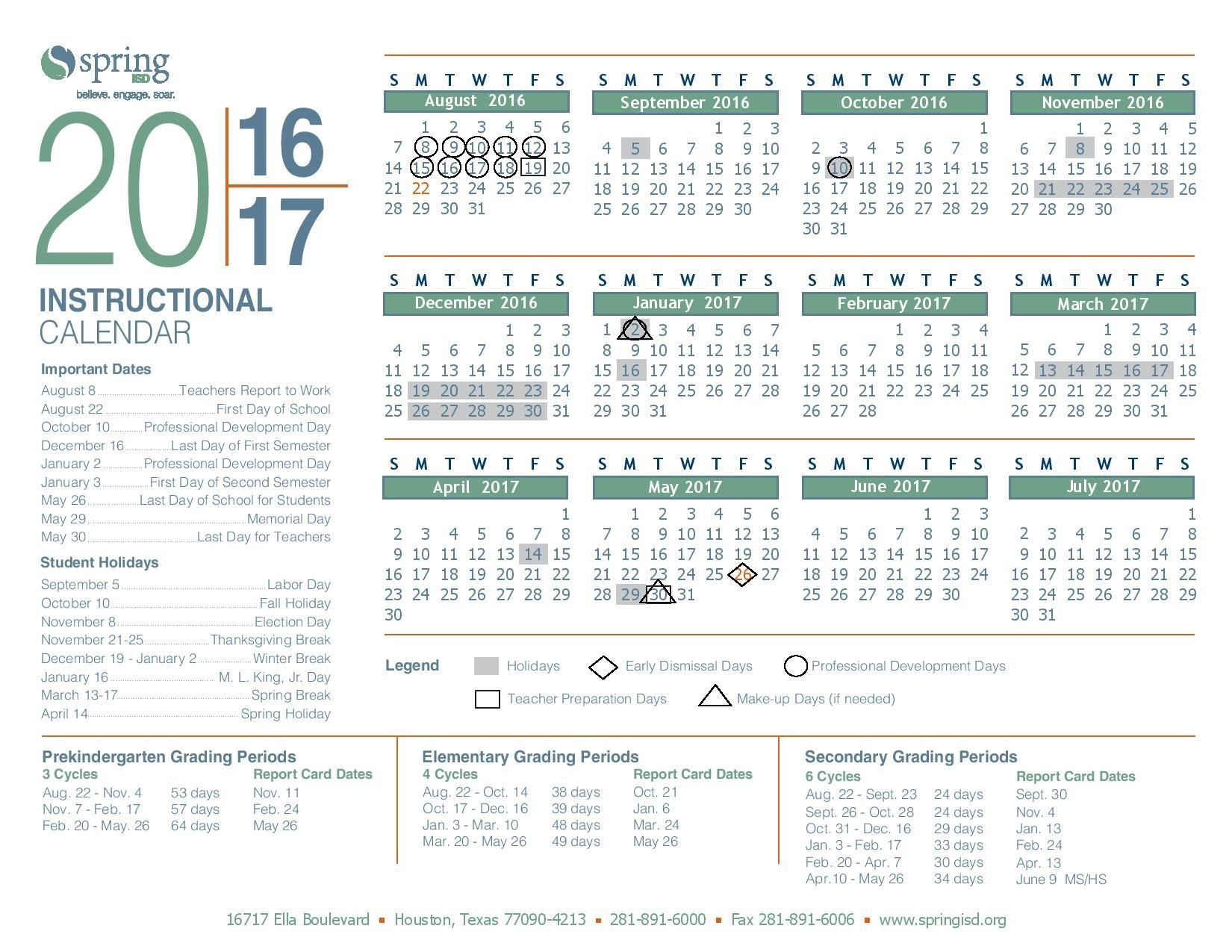 2017 2018 INSTRUCTIONAL CALENDAR / CALENDARIO DE INSTRUCCIÓN   jalexa1