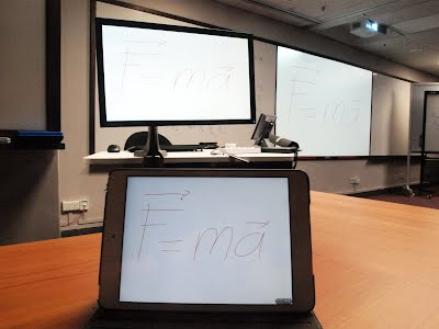 using a tablet as a mobile whiteboard physichronicles