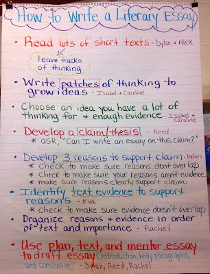 write english literary essay
