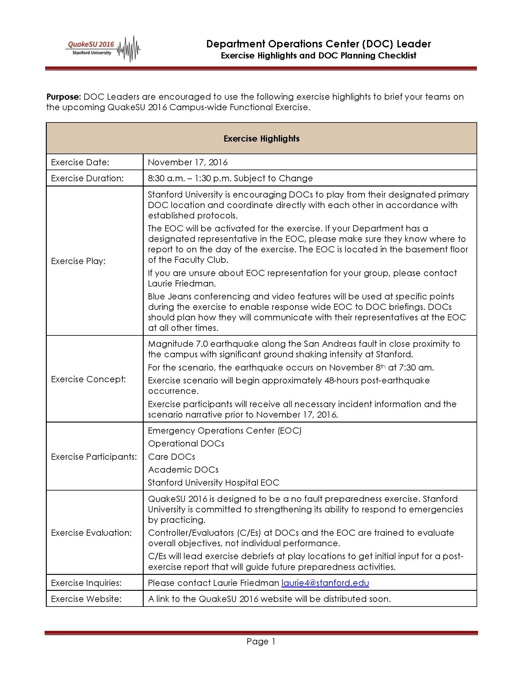 Tabletop Exercise Template Designer Tables Reference