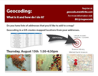 Geocoding - What is it and how do I do it? - SGC 2014