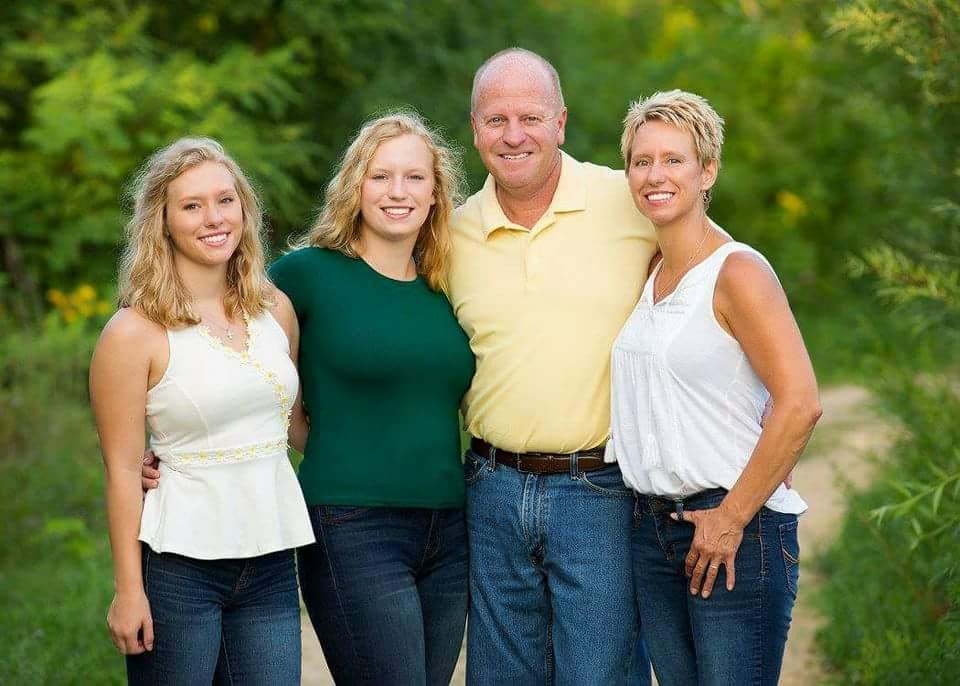 My family... Emily (now a freshman at M.C.A.D, Maddy (now a junior at SAHS, Jim and Me