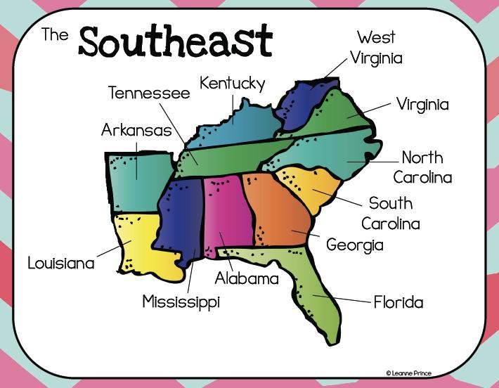 Blank Us Map Southeast Region Southeast Us Clip Art At Clkercom - Southeast us blank map