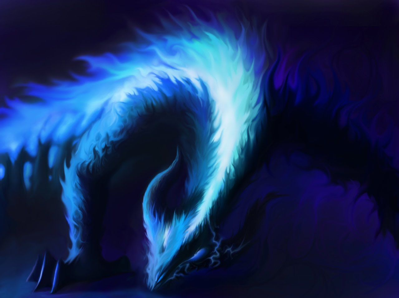 The Cool Fire Dragons Are Responsible For All Of Blue Fires That Created In This World