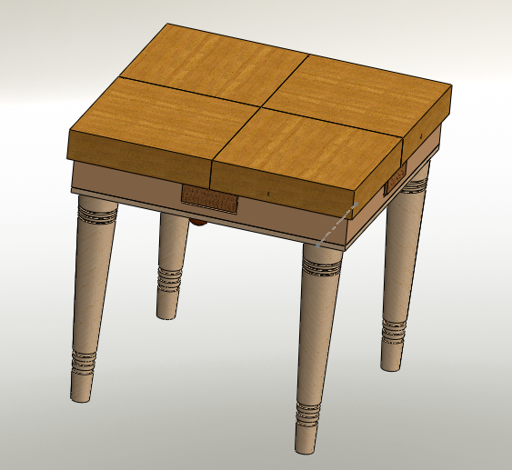 Miniprojet table qui s 39 agrandit for Table qui s agrandit ikea