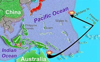 Midway On World Map.Battle Map Period 4 Pacific