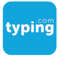 Typing Club logo with small black & white girl