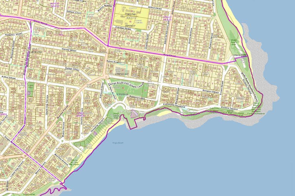 Map Of Caloundra Kings Beach   160422 sscp Map Of Caloundra