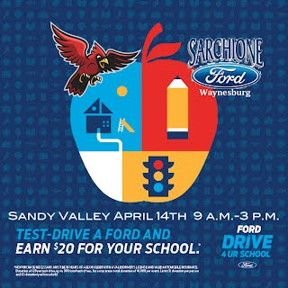 Sarchione Ford Waynesburg >> Sarchione Ford Drive 4 Ur School Event April 14th From 9 3