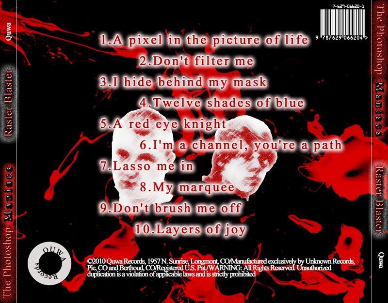 CD Cover Back - Nick Zumhofe's Portfolio