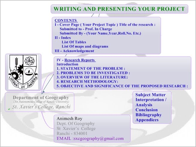 How To Write Present Project Reports Department Of Geography
