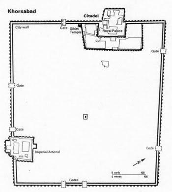 Epic Khorsabad city plan