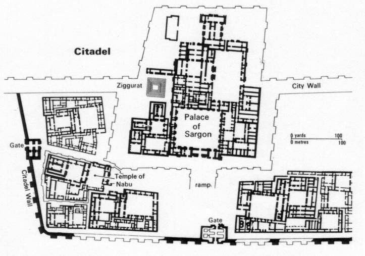 Fancy Khorsabad citadel plan