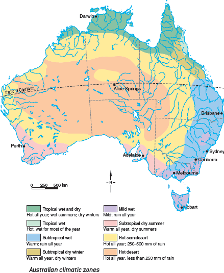 Patterns Of Climate Hsiekingsgrove - Australia climate map
