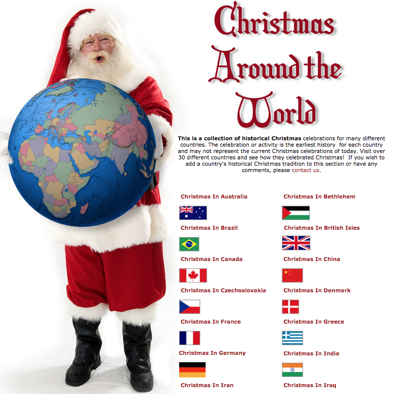 Christmas Around the World - St Therese Kindergarten