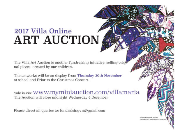 One Line Art Action : Villa online art auction maria catholic