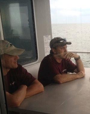Steven DiMarco aboard the R/V Manta