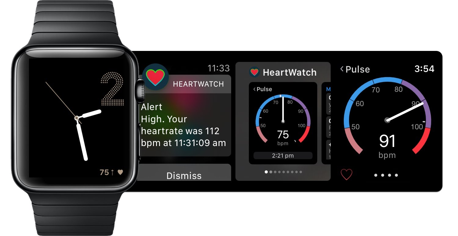 HeartWatch, complication, alerts, live pulse