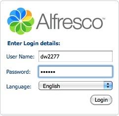 Alfresco login
