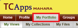 Click on My Portfolio