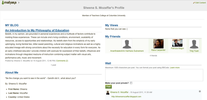 Sample Profile View