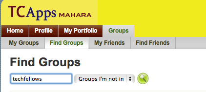 Find groups search box