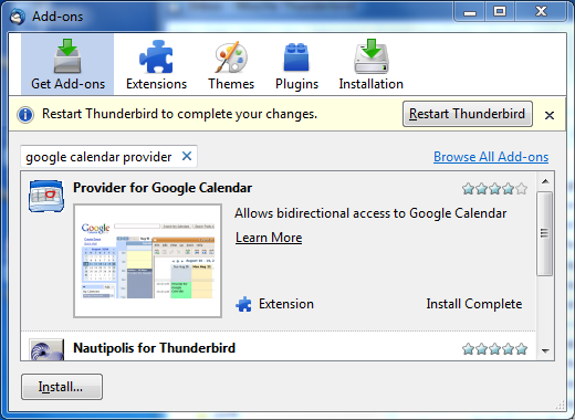Accessing Email and Calendar with Thunderbird - TCAPPS New