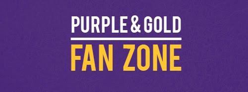Purple and Gold fan zone