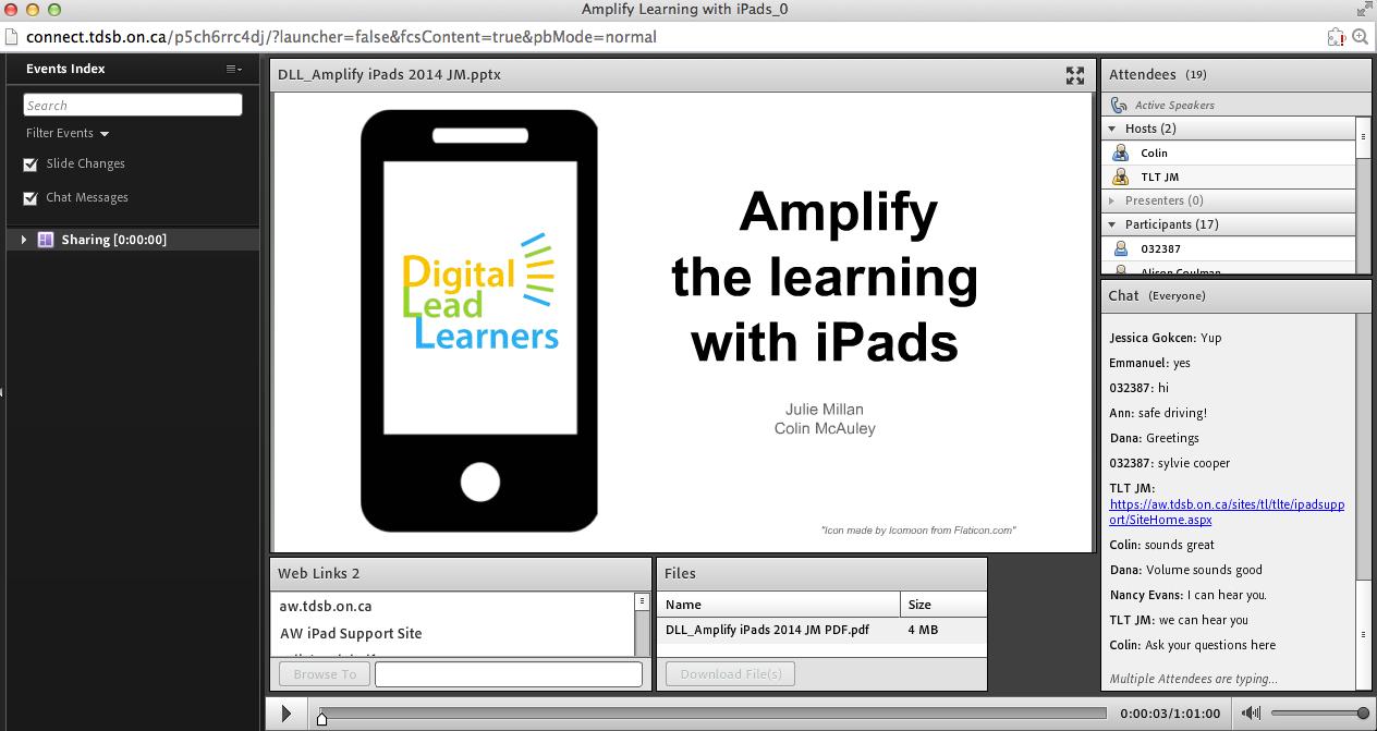 iPad Webinar