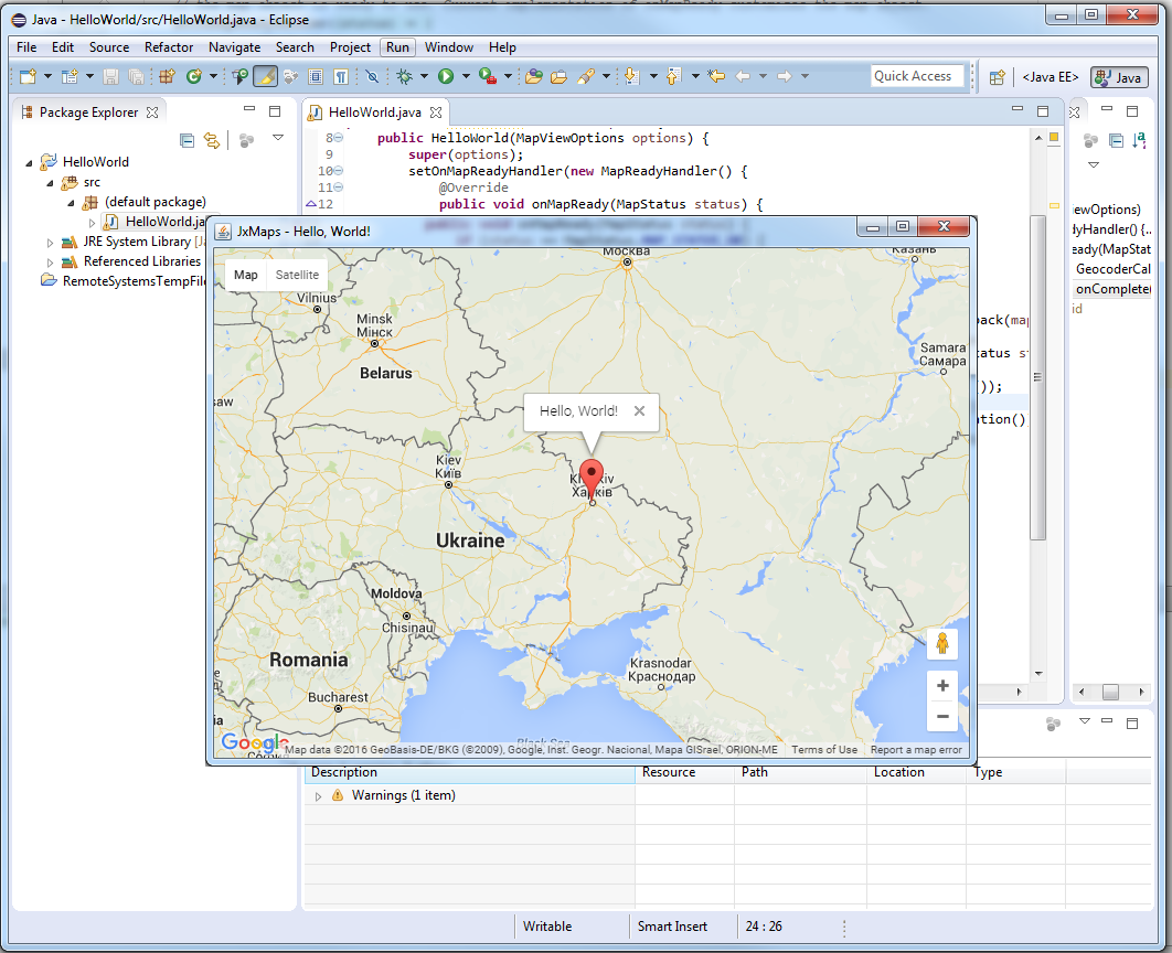JxMaps in Eclipse - 9