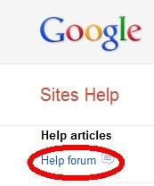 Help Forum Link