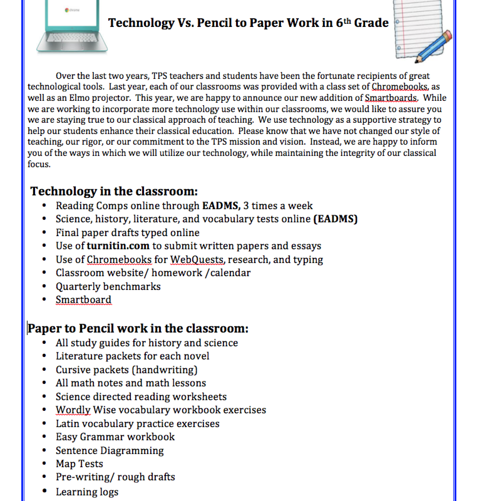 Technology in 6th Grade - Mrs. Timberlake\'s 6th Grade