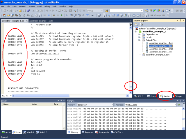 atmel avr studio 6 simulation debug views ece 3612 rh sites google com Atmel Studio 6.0 Studio 6.1 Arduino