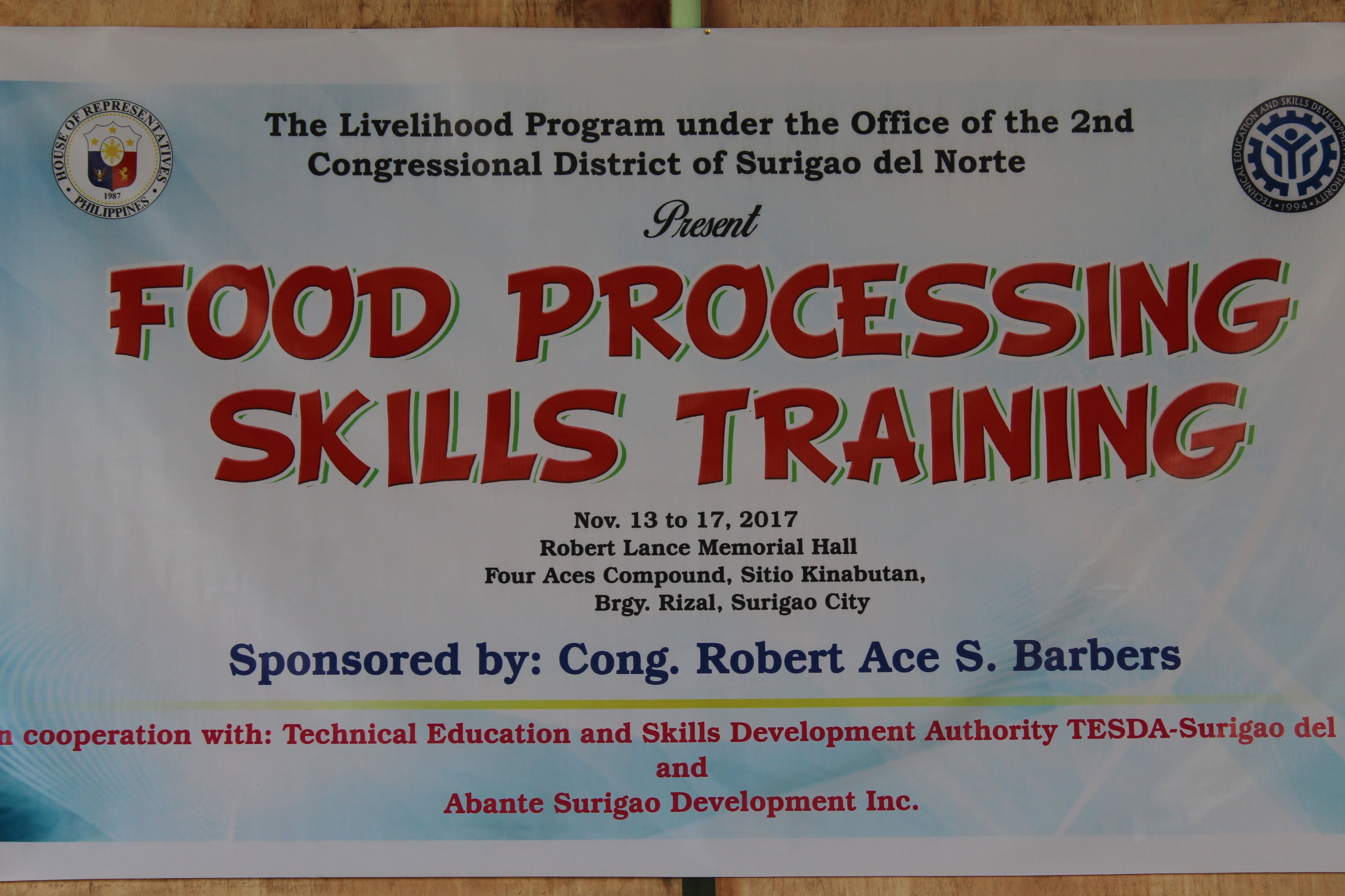 Print Page Del City Press Release The Livelihood Program Under Office Of 2nd Congressional District Surigao Norte Launched Food Processing Skills Training At Robert Lance