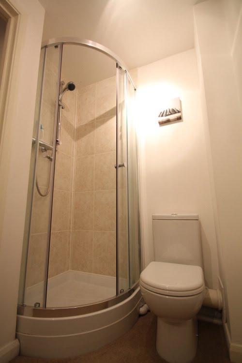 Shower in Lorna Doone apartment