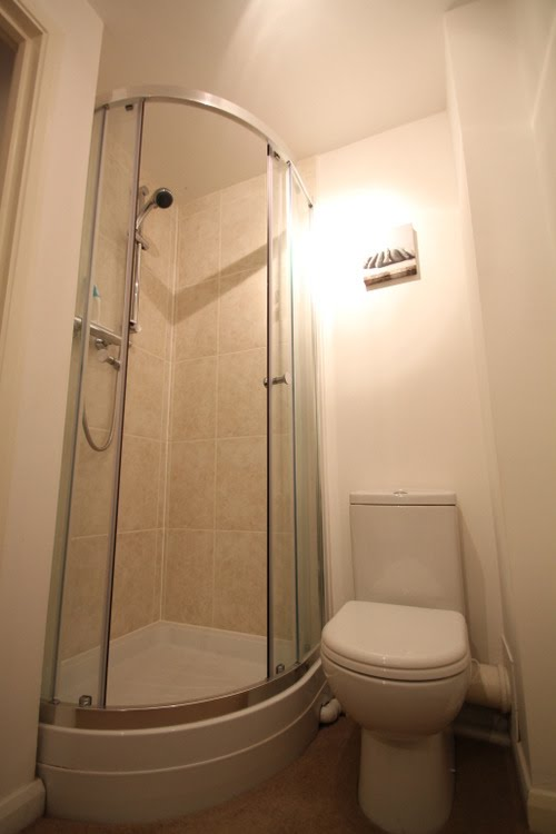 Shower in Lorna Doone apartment