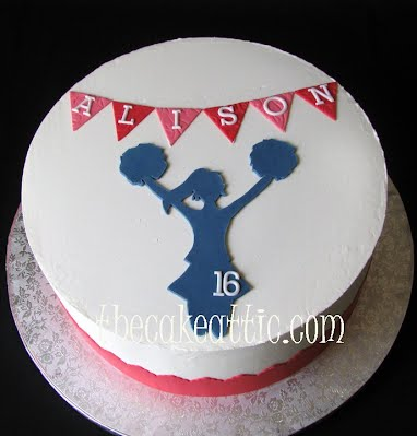 Superb Cheerleader Birthday Cake The Cake Attic Funny Birthday Cards Online Alyptdamsfinfo