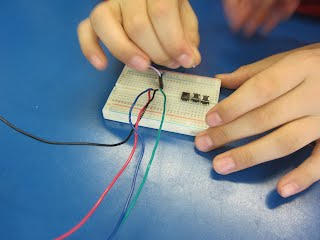 breadboard and buttons