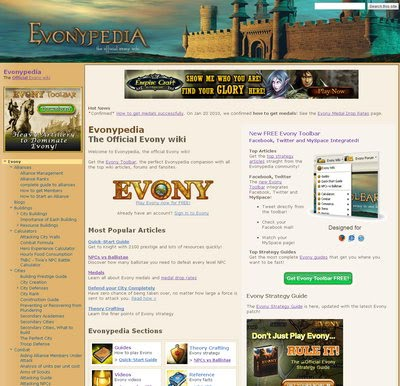 The Evony Wiki (Evonypedia)