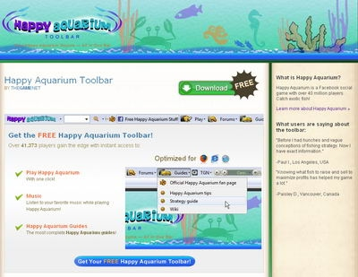 Happy Aquarium Toolbar