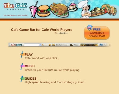 Cafe Game Bar for Cafe World players