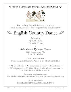 Image of April 2015 dance flier.