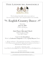 Leesburg Assembly July, 2016, dance flier.