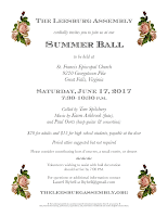 2017 Summer Ball flyer