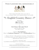July, 2017, monthly dance flyer.