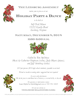 Flyer for 2018 holiday party and dance.