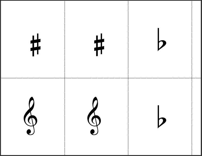 graphic about Free Printable Music Flashcards identified as Flashcards - The Train Shoppe