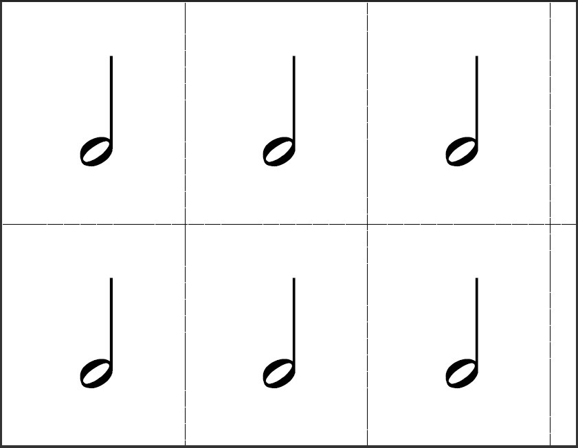picture about Printable Music Note Flashcards referred to as Flashcards - The Train Shoppe