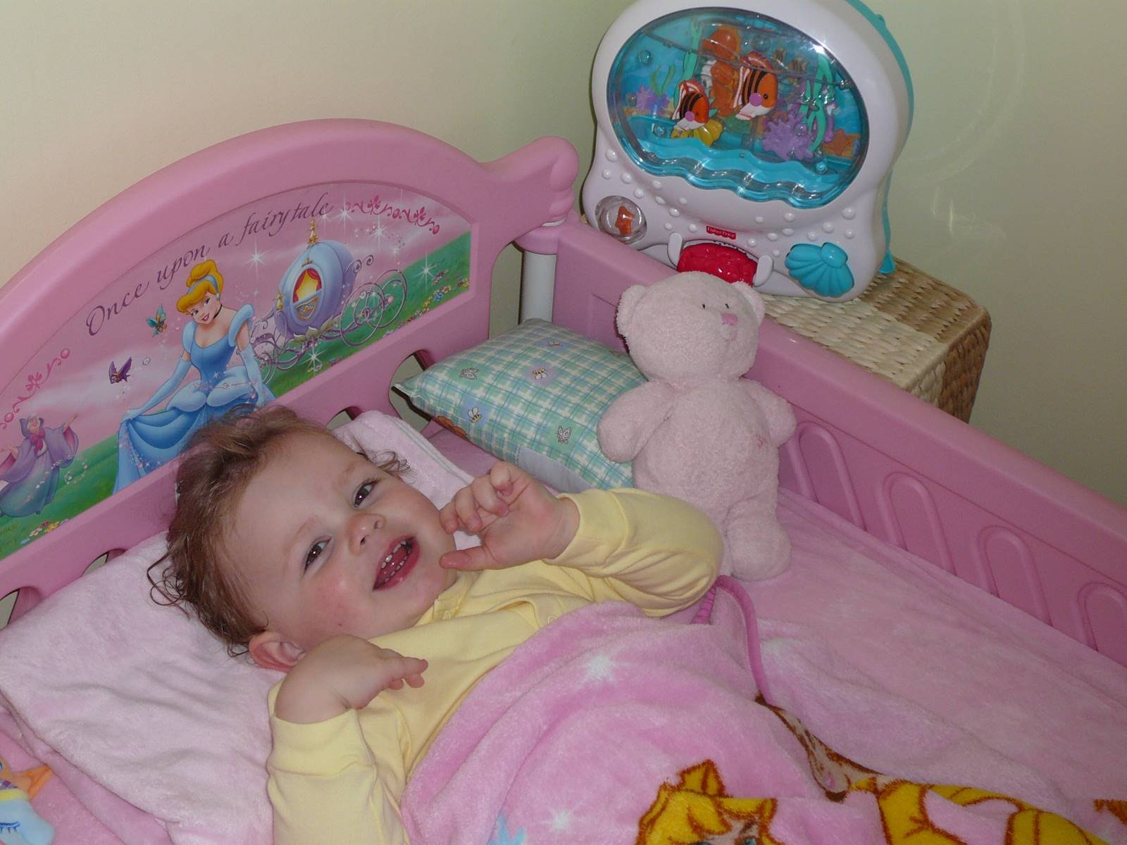 Popular May Kaitlyn in her new Cinderella toddler bed or as she likes to call it her princess bed