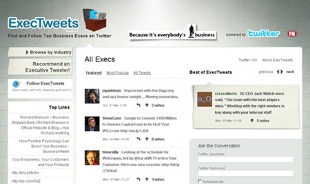 find and follow the top business executives on Twitter